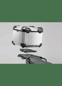 TRAX ADV top case system Silver. Honda NC700 S/X (11-) NC750 S/X (14-15).