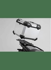 TRAX ADV top case system Silver. KTM 790/1050/1090/1190Adv, 1290 SAdv R/S.