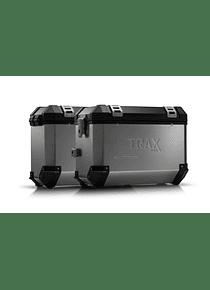 TRAX ION aluminium case system Silver.45/37 l. Honda XRV750 Africa Twin (92-03).