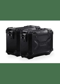 TRAX ADV aluminium case system Black. 45/37 l. Honda XRV750 Africa Twin (92-03).