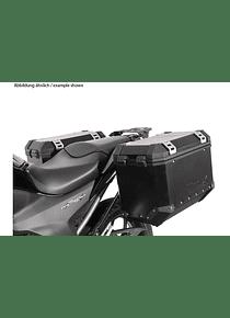 EVO side carriers Black. Honda NC700S/X (11-14),NC750S/X (14-15).