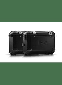 TRAX ION aluminium case system Black. 37/37 l. Honda NC700 S/X, NC750 S/X.