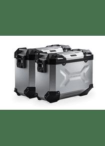 TRAX ADV aluminium case system Silver. 37/37 l. Honda NC700 S/X, NC750 S/X.