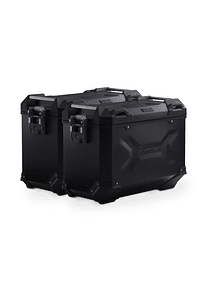 TRAX ADV aluminium case system Black. 45/45 l. Honda NC700 S/X, NC750 S/X.