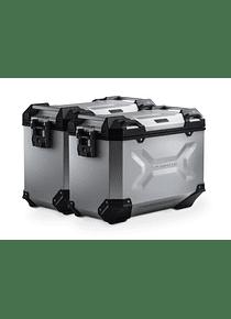 TRAX ADV aluminium case system Silver. 45/45 l. Honda NC700 S/X, NC750 S/X.