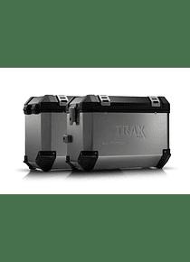 TRAX ION aluminium case system Silver. 45/45 l. Honda XL 700 V Transalp (07-12).