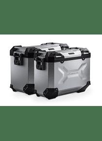 TRAX ADV aluminium case system Silver. 45/37 l. CRF1000L Africa Twin (15-17).