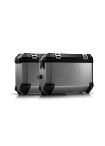 TRAX ION aluminium case system Silver. 37/37 l. Honda Crosstourer (11-).