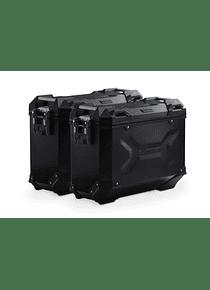 TRAX ADV aluminium case system Black. 37/37 l. Honda NC750X / NC750S (16-).