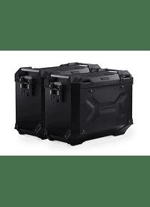TRAX ADV aluminium case system Black. 45/45 l. Honda NC750X / NC750S (16-).