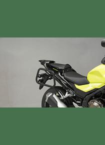 EVO side carriers Black. Honda CB500F (-18) / CBR500R (16-).