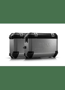 TRAX ION aluminium case system Silver. 37/37 l. Husqvarna TR 650 Terra / Strada.