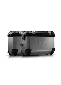 TRAX ION aluminium case system Silver. 45/45 l. Husqvarna TR 650 Terra / Strada.