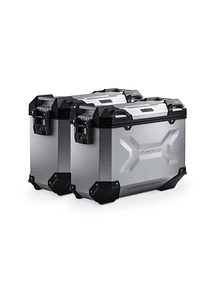 TRAX ADV aluminium case system Silver. 37/37 l. Husqvarna TR 650 Terra / Strada.