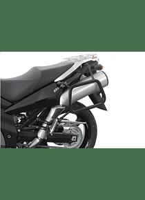 EVO side carriers Black. Suzuki DL 1000 V-Strom / Kawasaki KLV1000