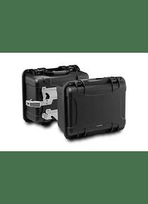 NANUK side case system Black. Suzuki DL 650 (11-16).