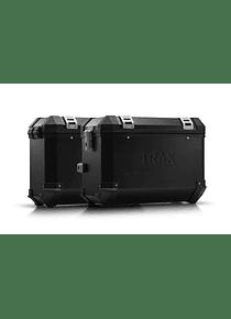 TRAX ION aluminium case system Black. 45/37 l. Kawasaki KLR 650 (08-).
