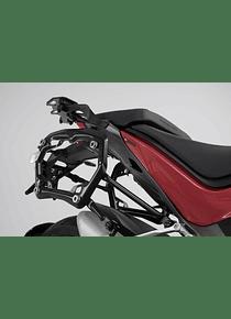 PRO side carriers Black. Ducati Multistrada 1260 (17-).