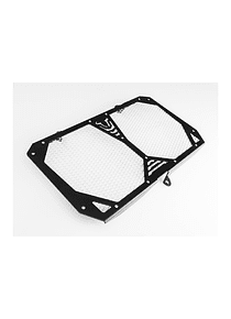 Radiator guard Black/silver. Kawasaki Versys 1000 (12-18).