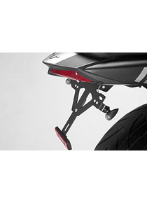 License plate holder Black. Suzuki SV650 ABS (15-).