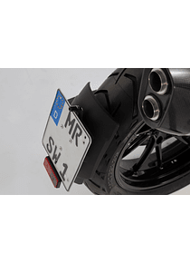 License plate holder Black. BMW R 1200 GS (12-).