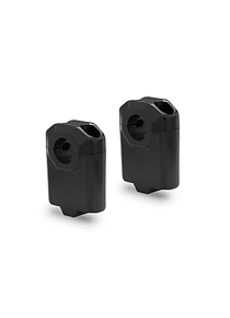 Bar riser for  22 mm handlebar H=50 mm. Black.