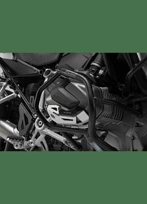 Cylinder guard Black/Silver. BMW R 1250 GS/Adv, R 1250 RS/ RT.