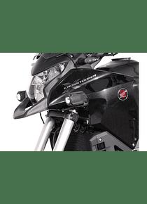 Light mounts Black. Honda Crosstourer (11-).