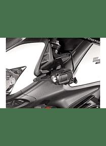 Light mounts Black. Suzuki DL650 V-Strom (11-16) / XT (15-16).