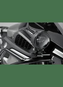 Light mounts f. orig. BMW fog lights Black. BMW R1200GS LC (12-) / Rally (17-).