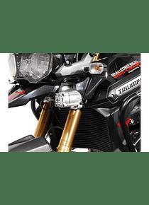 Light mounts Black. Triumph Tiger 1200 Explorer (11-15).
