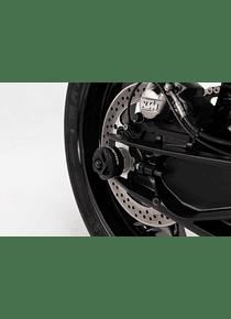 Slider set for rear axle Black. KTM 790 Duke (18-) / 790 Adv/ Adv R (19-).