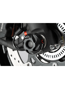 Slider set for front axle Black. Suzuki V-Strom 1000 (14-) / 1050 (19-).