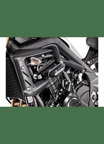 Slider set for frame Black. Triumph Street Triple 675 (07-12).