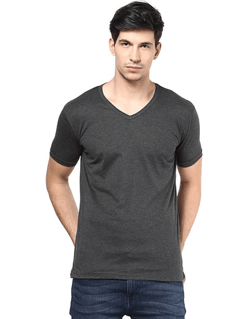 POLO CUELLO V - SWISS LORD - CHARCOAL