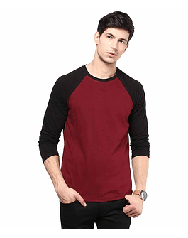 POLO RAGLAN - SWISS LORD - NEGRO/VINO