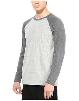 POLO RAGLAN - SWISS LORD - GRIS/HEATHER