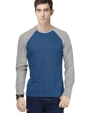 POLO RAGLAN - SWISS LORD - HEATHER/ACERO