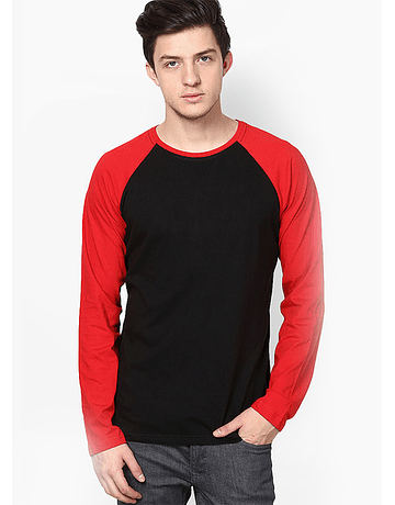 POLO RAGLAN - SWISS LORD - ROJO/NEGRO
