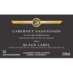 2013 Ruby's Honor Black Label
