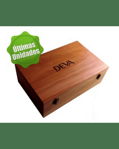 Caja de madera Nativa para 40+14  (54) frascos de 10 ml.