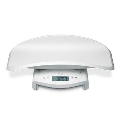 Pesabebés electrónica de fina graduación con plataforma para pesaje de niños pequeños SECA 345