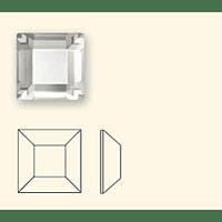 Cristales Swarovski Cuadrados Crystal 3mm *Hotfix*