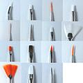 Set 15 pinceles Nail Art