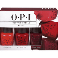 Trío OPI VIP Red Over Heels