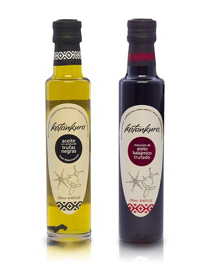 Aceite con Aroma a Trufa Negra 250 ml + Aceto Balsámico Trufado 250 ml