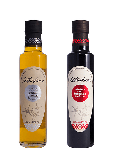 Aceite con Aroma Trufa Blanca 250 ml + Aceto Balsámico Trufado 250 ml