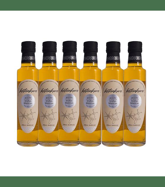 Caja 6 Botellas Aceite con Aroma a Trufas Blancas 250 ml