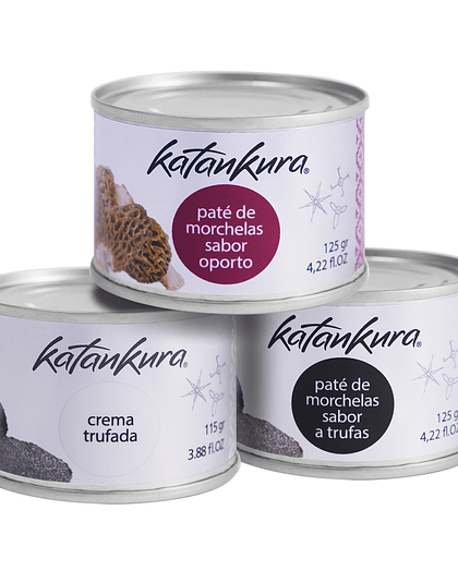Pate Hongos Trufa + Paté Hongos Oporto + Crema Trufada