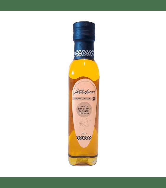 Aceite de Oliva con Aroma a Trufa Negra 200 ml + Aceite de oliva con Aroma Trufa Blanca 200 ml